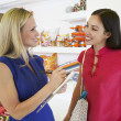 Saleswoman Communicating With Female Customer In Store — Stockfoto