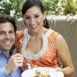Couple Sharing A Meal — Stock Photo