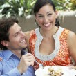 Stock Photo: Couple Sharing Meal