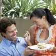 Couple Sharing A Meal — Foto de Stock