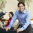 Couple With A Convertible — Stock Photo