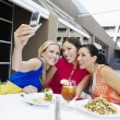 Beautiful Female Friends Taking Self Portrait — Stock Photo