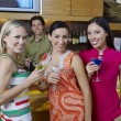 Beautiful Women Enjoying Drinks — Stock Photo