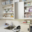 Medical Cabinets In Hospital - Stock Photo