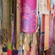 Royalty-Free Stock Photo: Pashminas And Fabrics For Sale