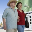 Stock Photo: Senior Couple Walking Together