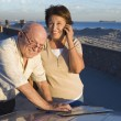 Senior Couple With Map On Vacations — Foto de Stock