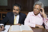 Solicitor And Client In Court — Stock Photo