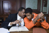 Criminal With Lawyer In Court — Stock Photo