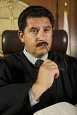 Pensive Male Judge — Stock Photo