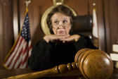 Contemplative Female Judge — Stock Photo