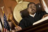 Judge Forming Sentence — Stock Photo