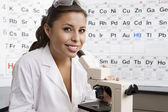Student In Science Laboratory — Stock Photo