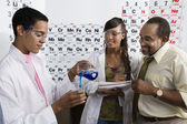 Teacher and Students in Science Class — Stock Photo
