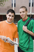 High School Students In College Campus — Stock Photo