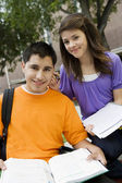 Teenage Couple Studying — Stock Photo