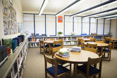 High School Library Reading Room — Stock Photo