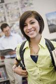 Gelukkig vrouwelijke student — Stockfoto