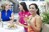 Female Friends Enjoying At a Restaurant — Zdjęcie stockowe