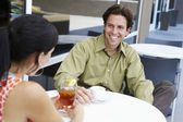 Man Enjoying Coffee Date With Woman — Stock Photo