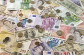 American, British And Euro Currency — Stock Photo