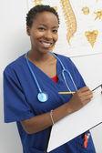 Doctor Writing Prescription — Stock Photo
