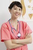 Doctor Wearing Stethoscope Around Neck — Stock Photo