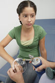 Girl Having Medical Examination — Stockfoto