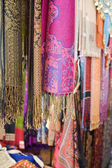 Pashminas And Fabrics For Sale — Stock Photo