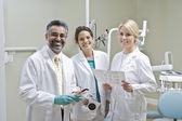 Retrato de equipo dentista — Foto de Stock