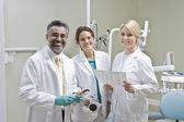 Ritratto della squadra di dentista — Foto Stock