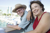 Mature Couple Enjoying Vacation — Stock Photo