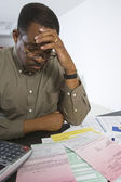 Man Worrying About Home Finances — Stock Photo