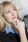 Pensive Financial Advisor — Stock Photo