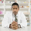 Confident Male Pharmacist - Stock Photo