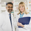 Stock Photo: Portrait Of Two Pharmacists