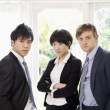 Three confident businesspeople — Stock Photo