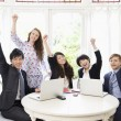 Excited businesspeople - Stockfoto