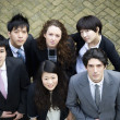 Multi ethnic business group — ストック写真