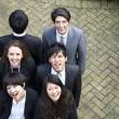 Foto Stock: Happy multi ethnic business team