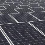 Large array of solar — Stock Photo