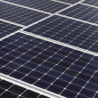 Diagonal line of solar array — Stock Photo