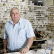Portrait of locksmith in store — Stock Photo