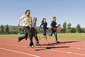 Business Running On Racing Track — Stock Photo