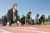 Business At Starting Blocks — Stock Photo