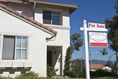 House With 'For Sale' Sign — Stock Photo