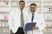 Portrait Of Two Male Pharmacists — Stock Photo
