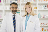 Portrait Of Two Pharmacists — Stock Photo