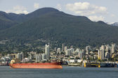 Cargo Ship In Vancouver Harbour British Columbia — Stock Photo