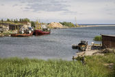 Latvian Fishing Village — Stock Photo